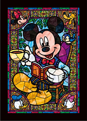 Tenyo Japan Jigsaw Puzzle DSG-266-955 Disney Mickey & Friends Stained Glass (266 Pieces)