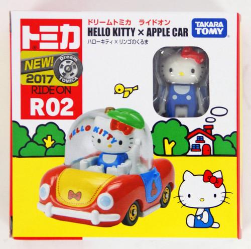 Takara Tomy Dream Tomica Ride On R02 Hello Kitty x Apple Car 887317