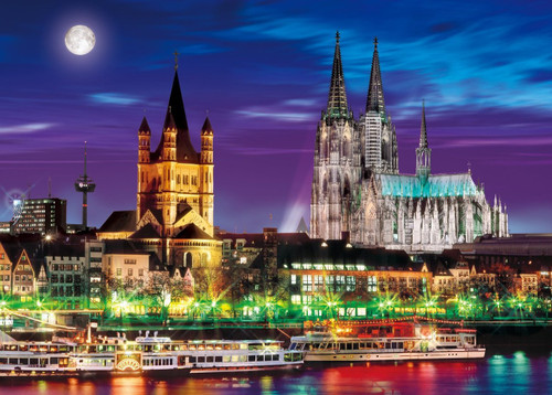 Epoch Jigsaw Puzzle 54-013 Cologne Cathedral Germany (2000 S-Pieces)