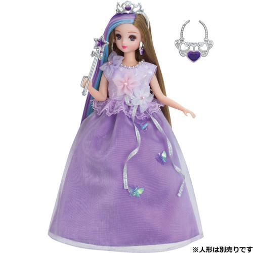 Takara Tomy Licca Doll Dress Set Purple Flower Princess (885313)