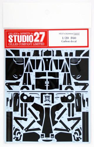 Studio27 ST27-CD20004 F60 Carbon decal for Tamiya 1/20