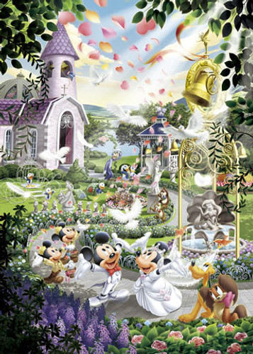 Tenyo Japan Jigsaw Puzzle D-1000-319 Disney Mickey Mouse Wedding (1000 Pieces)