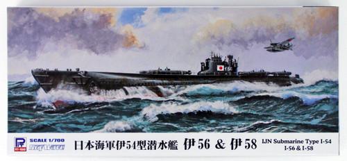 Pit-Road Skywave W-122 IJN I-54 Class Submarine I-56 & I-58 Late Type 1/700 Scale Kit