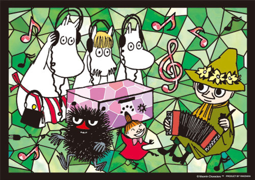 Yanoman Prism Art Jigsaw Puzzle 61-45 Moomin Music Life (108 Pieces)