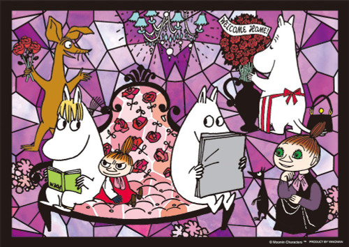 Yanoman Prism Art Jigsaw Puzzle 61-46 Moomin Welcome Home (108 Pieces)