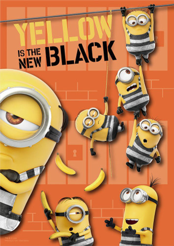 Yanoman Prism Art Jigsaw Puzzle 61-44 Despicable Me 3 Minions Yellow is the New Black (108 Pieces)