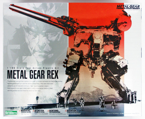 Kotobukiya KP221 Metal Gear Solid Metal Gear REX 1/100 Scale Plastic Model Kit