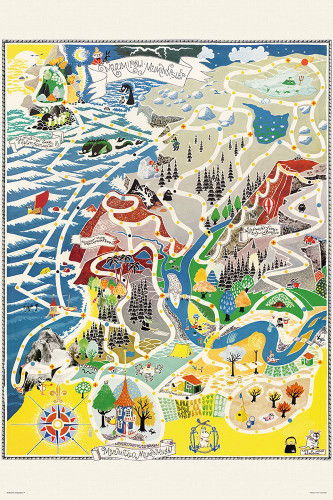 Yanoman Jigsaw Puzzle 10-1291 Map of Moomin Valley (1000 Pieces)