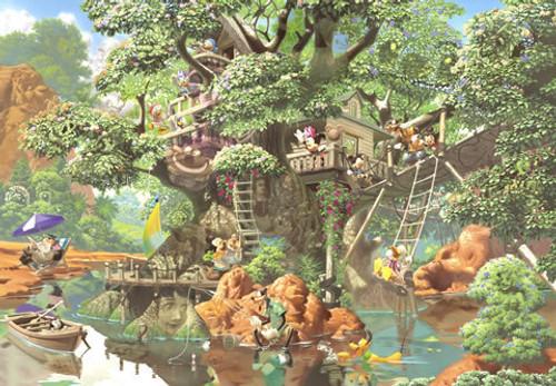 Tenyo Japan Jigsaw Puzzle D-1000-369 Disney Mickey Tree House (1000 Pieces)