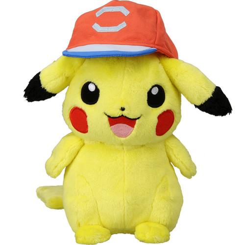 Takara Tomy Pokemon Plush Doll Ash's Pikachu (Alola Cap Ver.) 898573