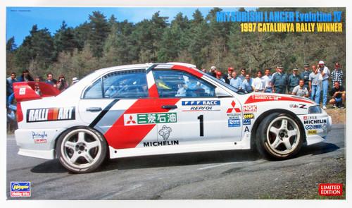 Hasegawa 20310 Mitsubishi Lancer Evolution IV 1997 Catalunya Rally Winner 1/24 scale kit