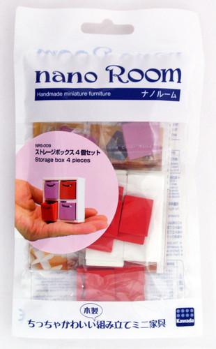 Kawada NRS-009 nano Room Storage Box 4 Pieces