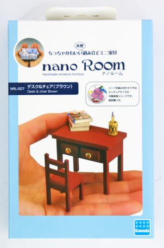 Kawada NRL-007 nano Room Desk & Chair Brown