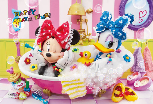 Yanoman Prism Art Jigsaw Petit Puzzle 97-159 Disney Minnie Happy Bath Time (70 Pieces)