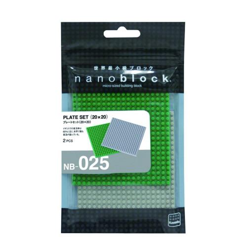 Kawada NB-025 nanoblock Plate Set 20 x 20 (80 x 80mm)