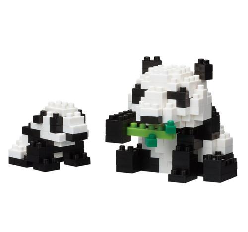 Kawada NBC-236 nanoblock Mother & Baby Giant Panda