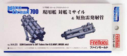 Fine Molds WA35 SSM Canister & SVT Tubes for US Navy, JMSDF, etc 1/700 scale