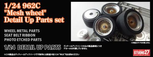 "Studio27 ST27-FP24191 962C ""Mesh Wheel"" Detail Up Parts set for Hasegawa 1/24"
