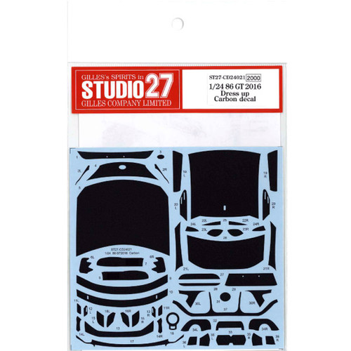 Studio27 ST27-CD24021 86 GT 2016 Dress up Carbon Decal for Aoshima 1/24