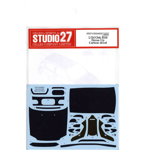 Studio27 ST27-CD24023 Civic EG6 Dress Up Carbon Decal for Hasegawa 1/24 Scale