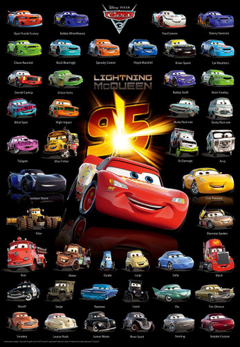 Tenyo Japan Jigsaw Puzzle D-1000-486 Cars 3 Character Collection (1000 Pieces)