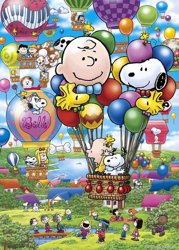 Epoch Jigsaw Puzzle 06-079s Peanuts Snoopy Balloon Flight (500 Pieces)