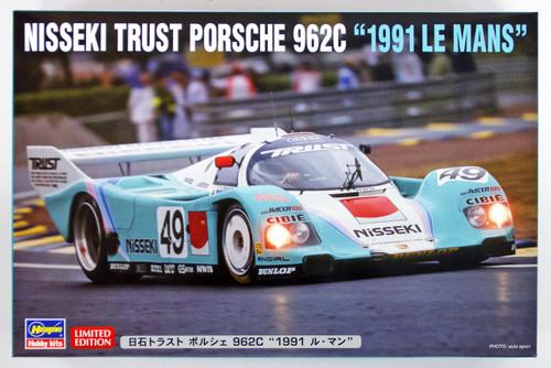 "Hasegawa 20318 Nisseki Trust Porsche 962C ""1991 Le Mans"" 1/24 Scale Kit"