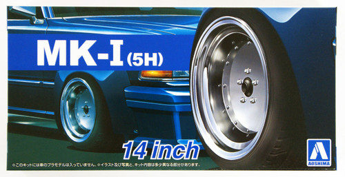 Aoshima 54383 Tuned Parts 67 1/24 MARK I (5H) 14inch Tire & Wheel Set