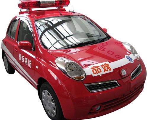 Fujimi ID-257 Nissan March Fire Engine & Life-Saving Vehicle 1/24 scale kit
