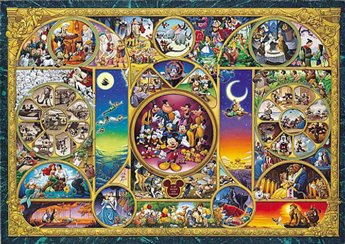 Tenyo Japan Jigsaw Puzzle D-108-876 Disney All Characters (108 Pieces)