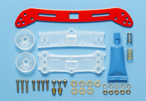 Tamiya 95363 Mini 4WD Wide Front Sliding Damper 2 Red