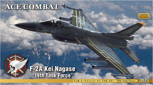 "Hasegawa SP346 F-2A Ace Combat  Kei Nagase ""19th Task Force"" 1/72 scale kit"