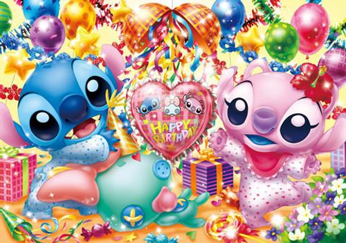 Tenyo Japan Jigsaw Puzzle D-200-893 Disney Stitch Happy Birthday (200 Pieces)