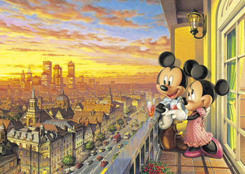 Tenyo Japan Jigsaw Puzzle D-300-197 Disney Mickey Mouse Sunset (300 Pieces)