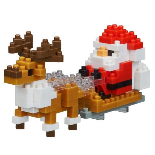 Kawada NBC-234 nanoblock Santa Claus and Reindeer