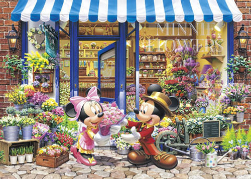 Tenyo Japan Jigsaw Puzzle DG-315-101 Disney Mickey Flower Shop (315 Pieces)