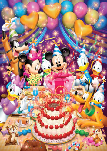 Tenyo Japan Jigsaw Puzzle DSG-500-401 Disney Mickey Happy Birthday (500 Pieces)