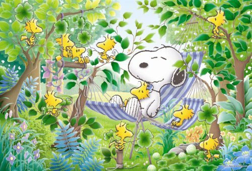 Apollo-sha Jigsaw Puzzle 3-835 Peanuts Snoopy Sleep in a Hammock (300 Pieces)