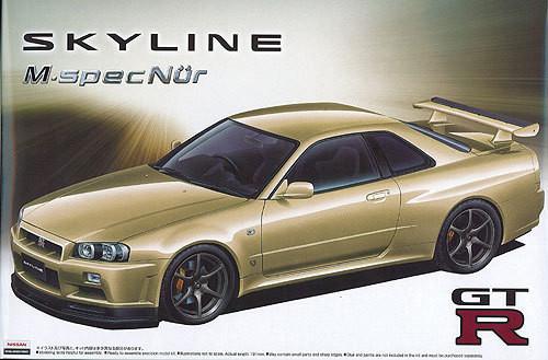 Aoshima 01592 Nissan Skyline GT-R M-spec Nur. (BNR34) 1/24 Scale Kit