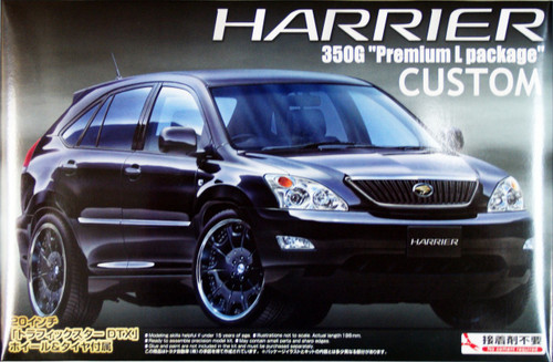 Aoshima 39540 Toyota Harrier 350G Premium L Package (Custom) 1/24 Scale Kit