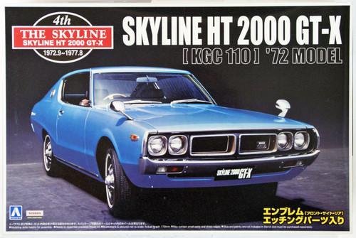 Aoshima 40966 Nissan Skyline HT 2000 GT-X 1972 (KGC110) 1/24 Scale Kit