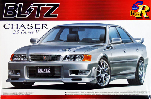 Aoshima 41864 Toyota Chaser 2.5 Tourer V (JZX100) Blitz Version 1/24 Scale Kit