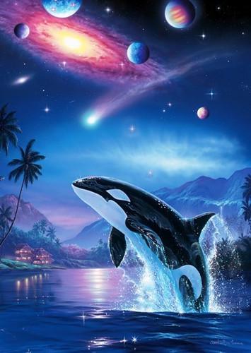Epoch Jigsaw Puzzle 02-219 Lassen Dolphin Silent Journey (108 Pieces)
