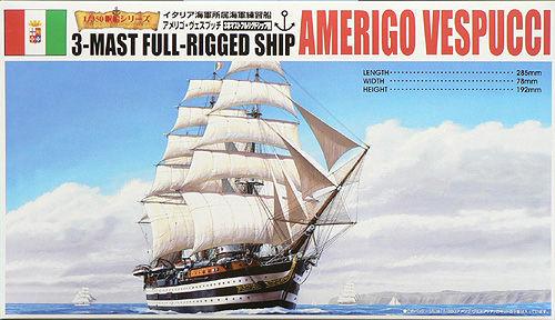 Aoshima 44278 3-MAST FULL-RIGGED AMERIGO VESPUCCI 1/350 Scale Kit