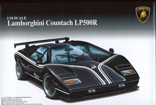 Aoshima 49617 Lamborghini Countach LP500R 1/24 Scale Kit