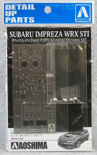 Aoshima 49754 Subaru Impreza WRX STi Photo Etched Parts 1/24 Scale