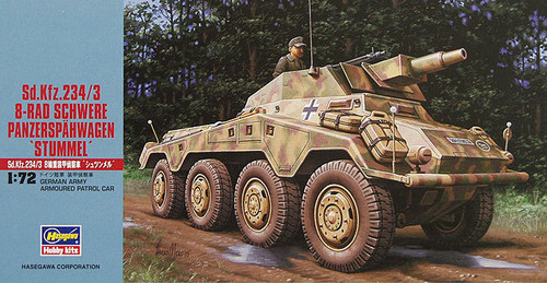 Hasegawa MT54 Sd.Kfz 234/3 SCHWERE PANZERSPAHWAGEN 1/72 Scale Kit