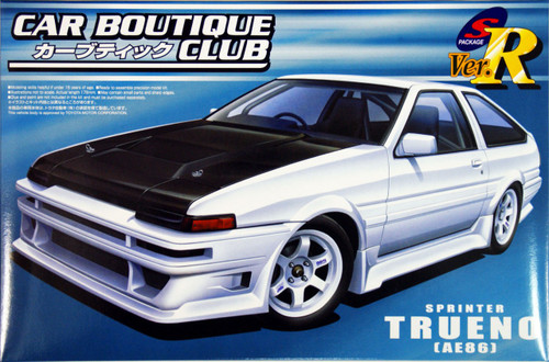 Aoshima 47750 Toyota Sprinter Trueno (AE86) Car Boutique Club 1/24 Scale Kit