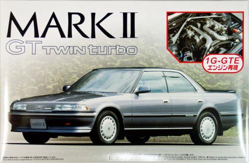 Aoshima 42045 Toyota Mark II GT Twin Turbo with 1G-GTE Engine 1/24 Scale Kit
