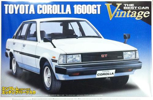 Aoshima 43813 Toyota Corolla 1600GT 1982 1/24 Scale Kit